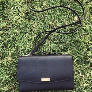 Black Kate Spade crossbody wallet